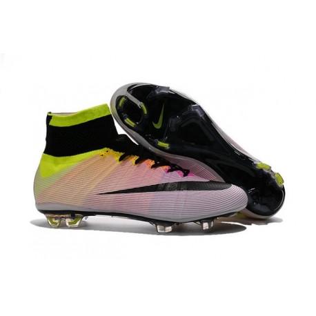 Chaussures Nouveau Nike Mercurial Superfly 4 FG Blanc Orange Noir