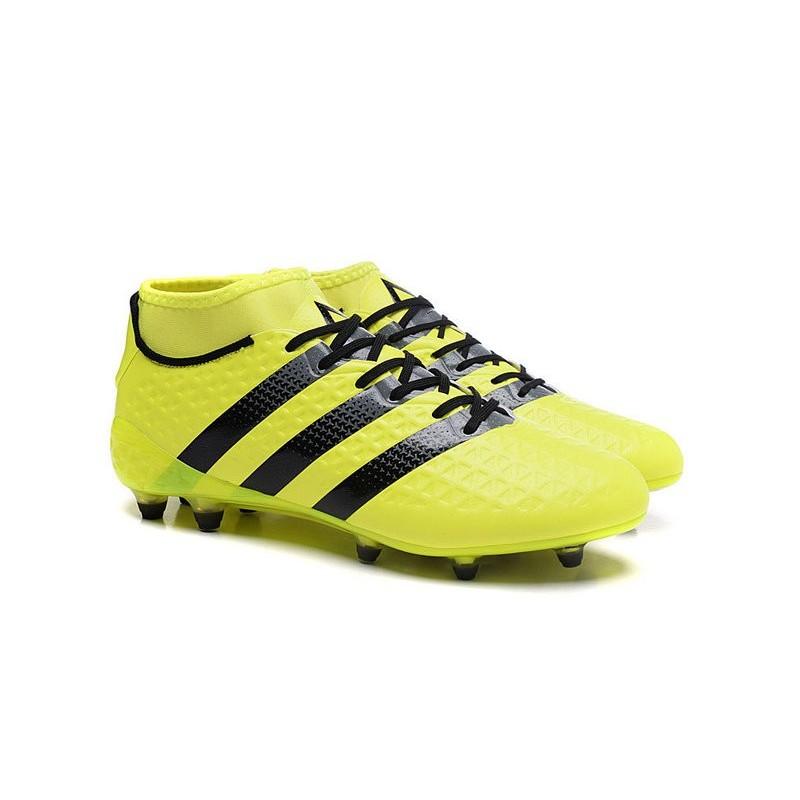 big sale 54b32 3b5c8 Football Fgag Ace Homme Adidas Noire Chaussures Primeknit 16 Jaune 1 wYZqdIP