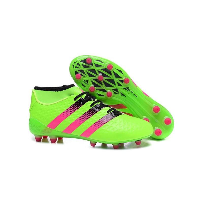 sale retailer 7198d a2a86 adidas ACE 16.1 Primeknit FGAG Chaussures Football Homme Vert Rose Zoom.  Précédent. Suivant