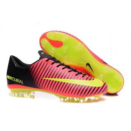 promo code e530a 87252 Chaussures à Crampons Nike Mercurial Vapor XI FG Rouge Jaune