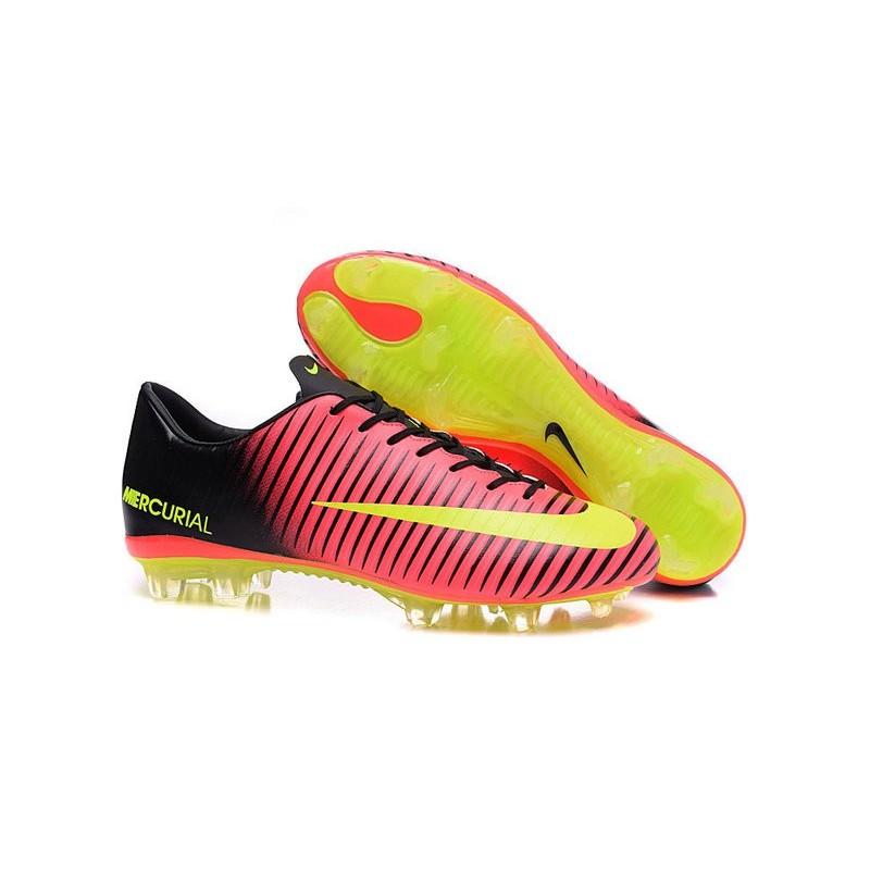 Chaussures à Crampons Nike Mercurial Vapor XI FG Rouge Jaune