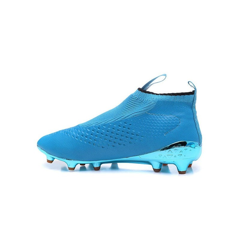 Chaussure Crampons adidas Ace 16+ Purecontrol FGAG Bleu Or