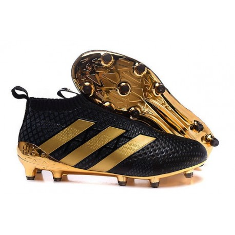 running shoes good service best deals on Chaussure Crampons Paul Pogba adidas Ace 16+ Purecontrol FG/AG Noir Or