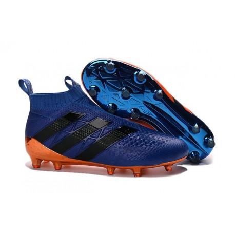 Nouvel 2016 Chaussures adidas Ace 16+ Purecontrol FG/AG Bleu Orange