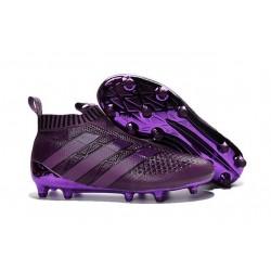 Nouvel 2016 Chaussures adidas Ace 16+ Purecontrol FG/AG Violet Foncé