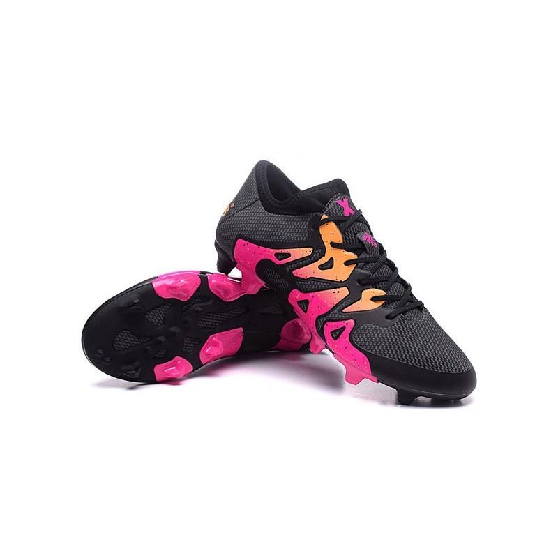 Chaussure Nouveau 2016 adidas X 15.1 FGAG Noir Rose