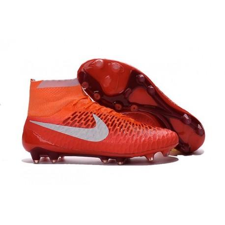 Crampon de Football Homme Nike Magista Obra FG ACC Rouge Blanc