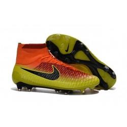 Crampon de Football Homme Nike Magista Obra FG ACC Carmin Noir Volt