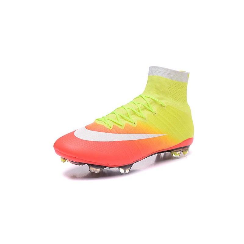 new product 38bc6 0af40 Chaussures Nouveau Nike Mercurial Superfly 4 FG Jaune Orange Blanc Zoom.  Précédent. Suivant