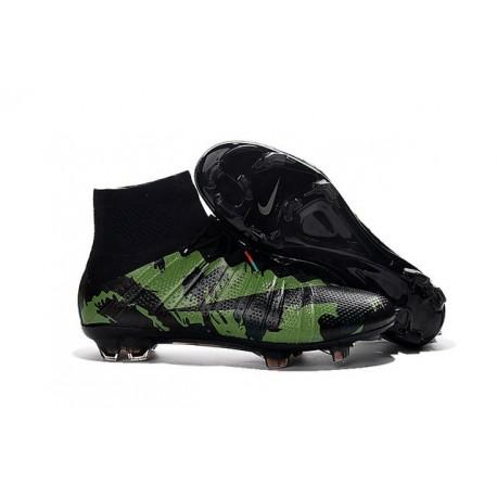 Cristiano Ronaldo Crampon Nike Mercurial Superfly 4 FG Camo Vert Noir