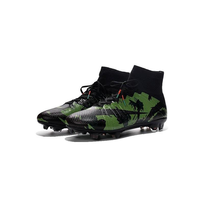 Camo Fg Noir Nike 4 Cristiano Superfly Crampon Mercurial Ronaldo Vert Lc3A5Rj4q