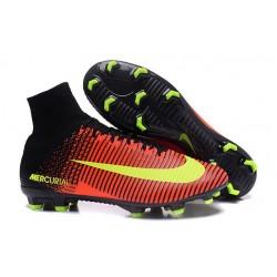 Chaussures de Cristiano Ronaldo Nike Nouvelles 2016 Mercurial Superfly V FG Orange Rose Fluo