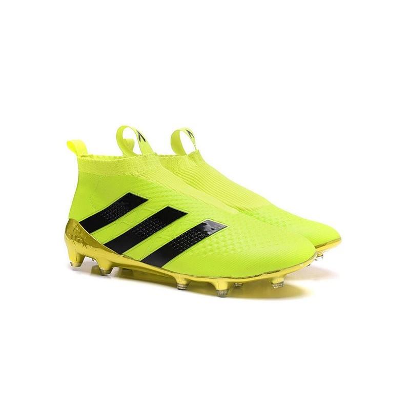 detailed look 374c9 416ad nouvel 2016 chaussures adidas ace 16 purecontrol fgag fluo noir. Adidas  Chaussure Gant Jaune SR29J30 Original ...