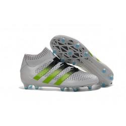 adidas ACE 16.1 Primeknit FG/AG Chaussures Football Homme Blanc Vert Noir