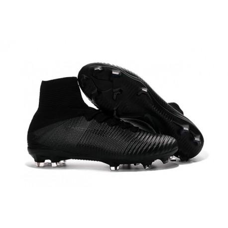 Chaussures de Cristiano Ronaldo Nike Nouvelles 2016 Mercurial Superfly V FG Tout Noir