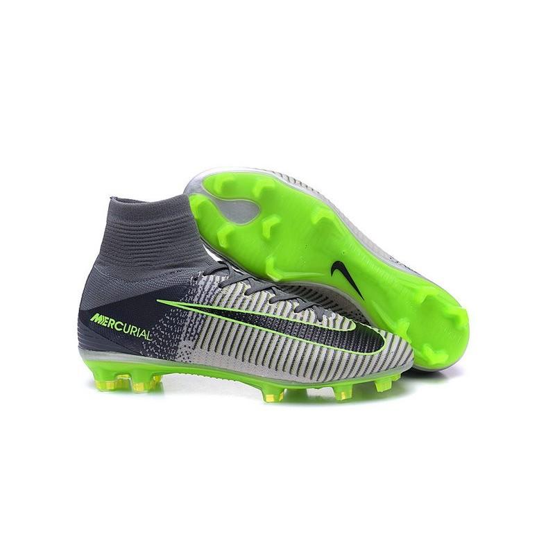 Chaussures de Cristiano Ronaldo Nike Nouvelles 2016 Mercurial Superfly V FG  Gris Noir Zoom. Précédent. Suivant c5280a6d80305