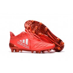 adidas X 16+ Purechaos FG Nouvel Crampons Football Rouge Argent