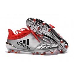 adidas X 16+ Purechaos FG Nouvel Crampons Football Argent Rouge Noir