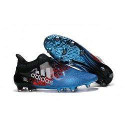 adidas X 16+ Purechaos FG Nouvel Crampons Football Bleu Noir