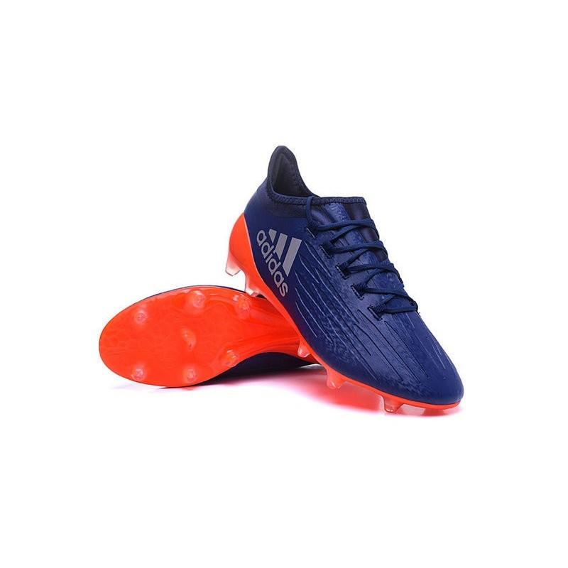chaussure adidas x 16 1 fg homme nouveaux 2016 bleu orange. Black Bedroom Furniture Sets. Home Design Ideas