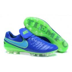 Neuf 2016 Nike Tiempo Legend 6 FG Crampons Football Homme Bleu Vert