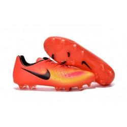 Chaussures Football 2016 Nike Magista Opus II FG Homme Orange Jaune Noir