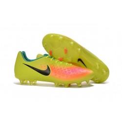 Chaussures Football 2016 Nike Magista Opus II FG Homme Jaune Rose Noir
