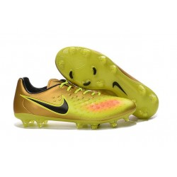 Chaussures Football 2016 Nike Magista Opus II FG Homme Or Jaune Noir