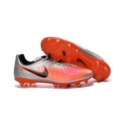 Chaussures Football 2016 Nike Magista Opus II FG Homme Argent Orange Noir
