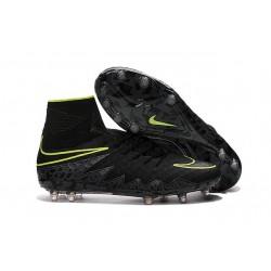 Chaussure Meilleure Nike Hypervenom Phantom 2 FG Noir Vert
