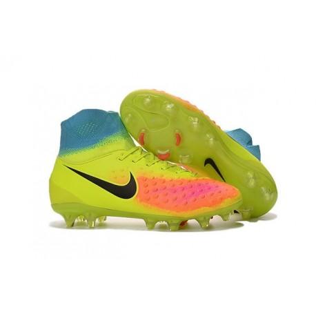 Nike Magista Obra 2 FG ACC Chaussures Homme Volt Orange Noir