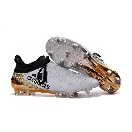 adidas X 16+ Purechaos FG Nouvel Crampons Football Blanc Noir Or