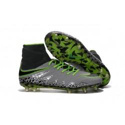 Chaussure Meilleure Nike Hypervenom Phantom 2 FG Platine/ Noir/ Vert