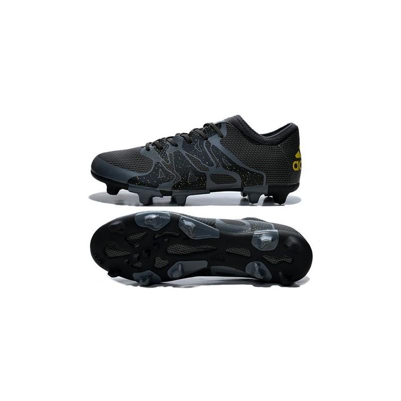 new style 9297e c85c1 Chaussure de Foot adidas X 15.1 FG AG Homme Noir Jaune Zoom. Précédent.  Suivant