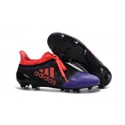 adidas X 16+ Purechaos FG Nouvel Crampons Football Noir Violet Rouge