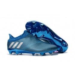Crampons de Foot Nouvel adidas Messi 16+ Pureagility FG Bleu Argent