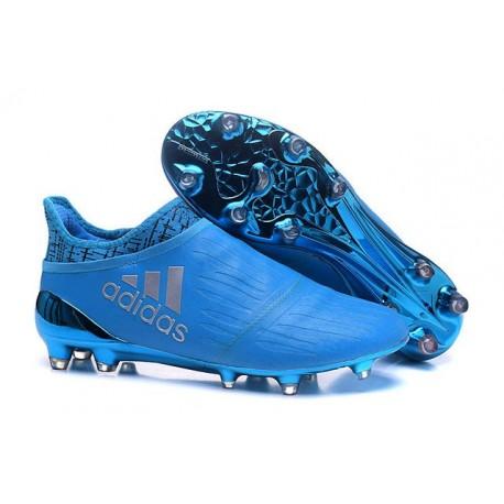 adidas X 16+ Purechaos FG Nouvel Crampons Football Bleu Argent