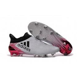 adidas X 16+ Purechaos FG Nouvel Crampons Football Blanc Rose Noir