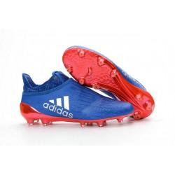 adidas X 16+ Purechaos FG Nouvel Crampons Football Bleu Rouge