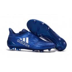 Chaussures de Foot adidas X 16+ Purechaos FG Techfit Bleu Argenta