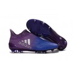 Chaussures de Foot adidas X 16+ Purechaos FG Techfit Violet Bleu
