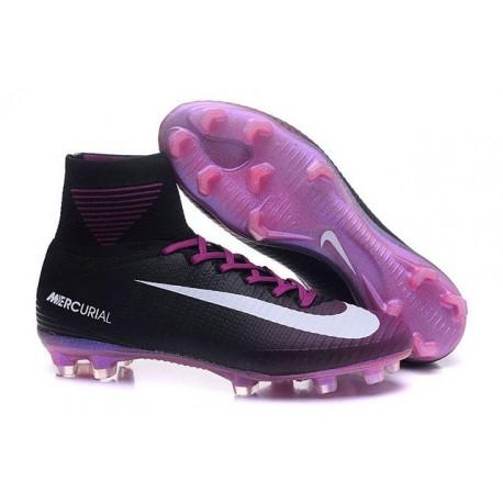 timeless design 65ba2 17d8a Nike Mercurial Superfly V FG ACC Neuf Crampons Football Noir Violet