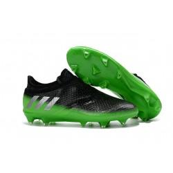Crampons de Foot Nouvel adidas Messi 16+ Pureagility FG Noir Vert