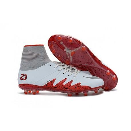Crampon Nouveaux Nike Hypervenom Phantom II Neymar X Jordan NJR FG Blanc Rouge
