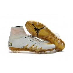 Crampon Nouveaux Nike Hypervenom Phantom II Neymar X Jordan NJR FG Blanc Or