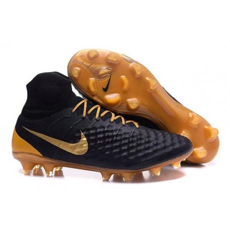 Nike Magista Obra 2 FG ACC Chaussures Homme Noir Or