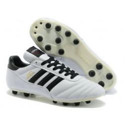 Chaussures de Football adidas Copa Mundial FG Cuir de Kangourou Blanc Noire