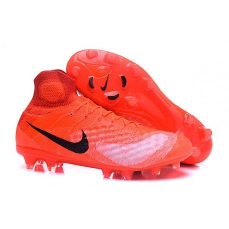 Nike Magista Obra 2 FG ACC Chaussures Homme Orange Noir