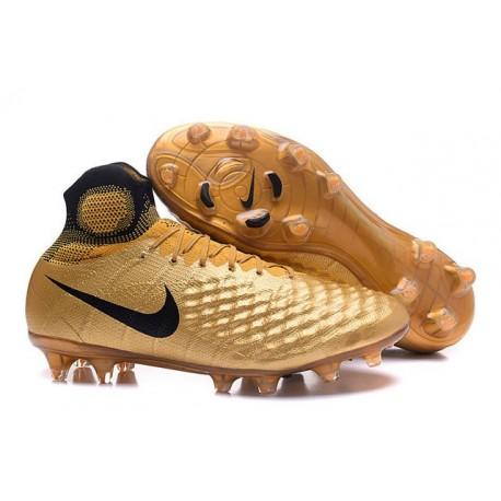 Nike Magista Obra 2 FG ACC Chaussures Homme Or Noir