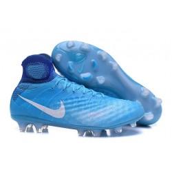 Nike Magista Obra 2 FG ACC Chaussures Homme Bleu Blanc